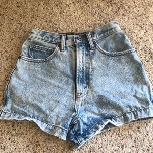 Abercrombie and Fitch denim high rise shorts.